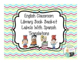 Classroom Library Labels with Spanish Translations