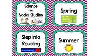 Classroom Library Labels/Book Basket Labels BUNDLE SET