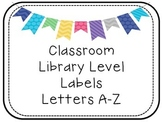 Classroom Library Level Labels