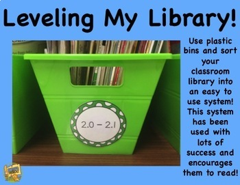 Classroom Library - Leveling My Library - Easy to Use System!  Grades K-5