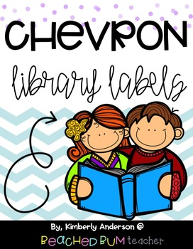 Classroom Library Levels A-Z : Large Aqua Chevron (With 3 Options/Styles)