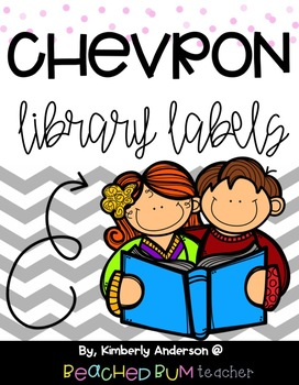 Classroom Library Levels A-Z : Large Gray Chevron (With 3 Options/Styles)