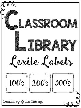 Classroom Library Lexile Labels