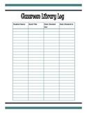 Classroom Library Log Sheet