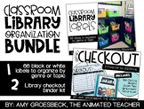 Classroom Library Organization Bundle – Book Bin Labels and Checkout System