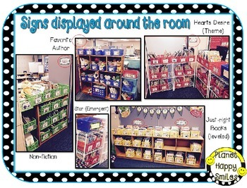 Classroom Library Organization Bundle ~ (EDITABLE) Basket/Book Labels & More