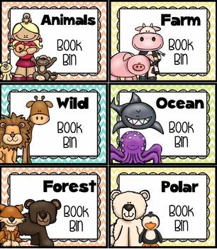 Classroom Library Organization - Editable {Chevron Classroom Set}