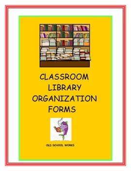 Classroom Library Organization Forms