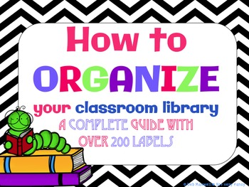 Classroom Library Organization Guide and Labels