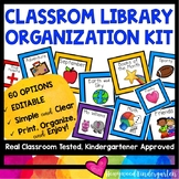 Classroom Library Organization Kit ... Beautiful! Editable! 60 options!