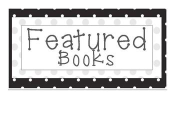 Classroom Library Organization Pack- Black Dot