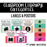 Classroom Library Organization Posters & Labels - Organizing by Genre / Category