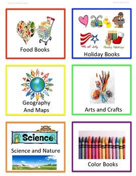 Classroom Library Organizer: Book Basket Labels