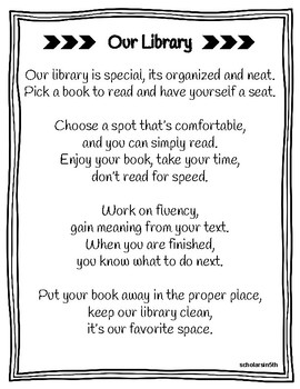 Classroom Library Poem