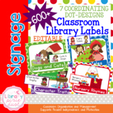 Classroom Library Book Bin Labels EDITABLE