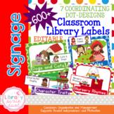 Classroom Library Book Bin Labels EDITABLE