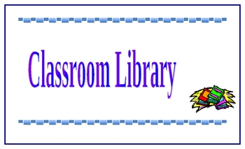 Classroom Library Poster