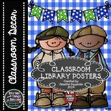 Classroom Library Posters & Book Bin Labels--Read All About It!