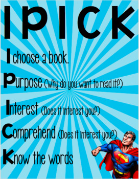 Classroom Library Posters Superhero Theme