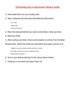 Classroom Library Procedure
