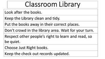 Classroom Library Protocol