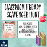 Back to School/ Classroom Library Scavenger Hunt