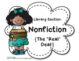 Classroom Library Section Labels