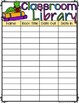 Classroom Library Sign Out/Sign In sheet plus Reminder Notes