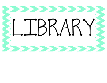 Classroom Library Sign (three sections)