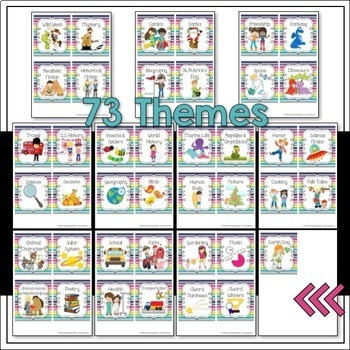Classroom Library Signs & Labels for Book Bins and Books BRIGHTS