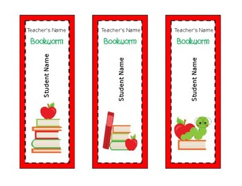 Classroom Library Student Book Markers **EDITABLE**