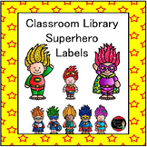 Classroom Library Bins | Superhero Labels