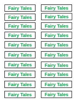 Classroom Library Tags - Fairy Tales