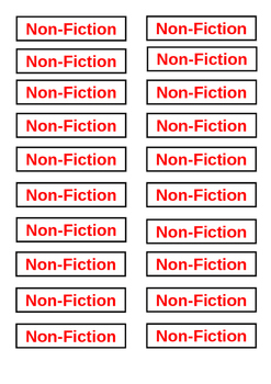 Classroom Library Tags - Non Fiction