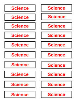 Classroom Library Tags - Non Fiction Science