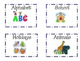 Classroom Library Theme Labels