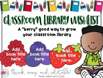 Classroom Library Wishlist