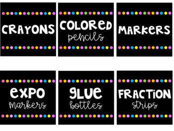 Classroom Library and Supply Labels EDITABLE