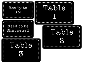 Classroom Library and Table Group Signs