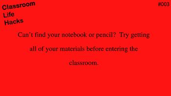 Classroom Life Hacks Rules