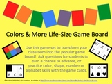 Classroom Life-Size Human Game Board - Colors, Alphabet &