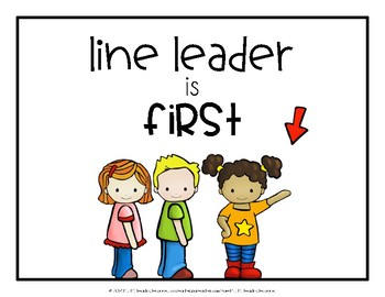 Classroom Line Signs
