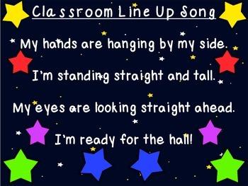 Classroom Line Up / Hallway Song