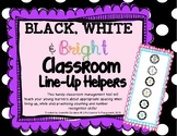 Classroom Line Up Helpers - Black, White & Bright