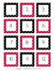 Classroom Line Up Numbers - Black & Red Polka Dots