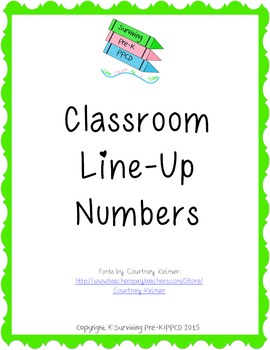 Classroom Line Up Numbers - Brights