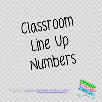 Classroom Line Up Numbers - Gray Tinted Chevron