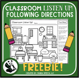 Classroom Listen Up! Following Directions FREEBIE