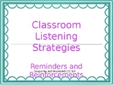Classroom Listening Strategies