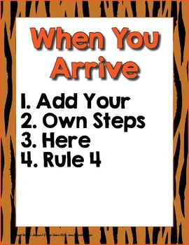 Classroom Lists Rules Procedures Posters